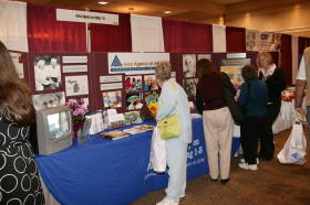 Exibits and informative presentations at the Area Agency on Aging 1-B Caregiver Fair
