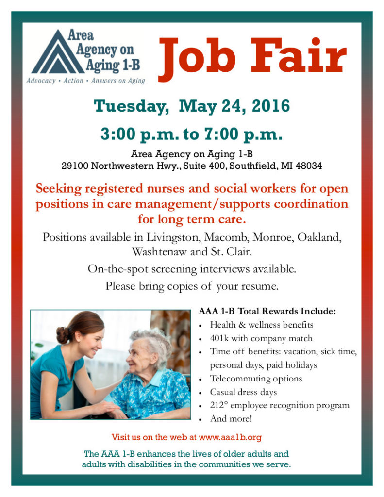 AAA 1-B Job Fair Flyer